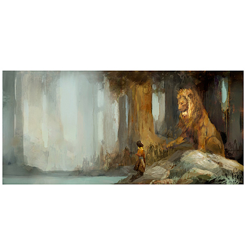 Image result for Aslan by the stream